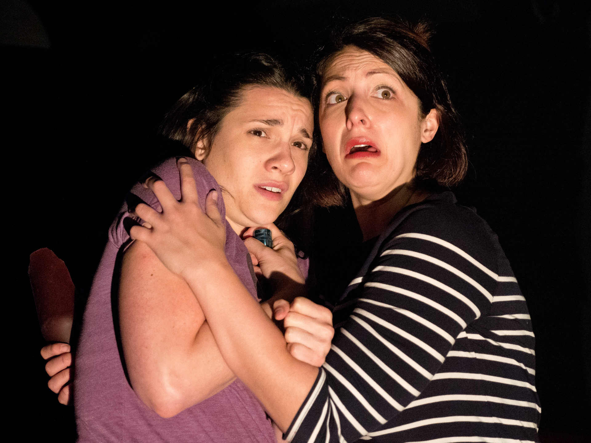 Kathryn Acosta (Lily) and Krista D'Agostino (Violet). Photo by Clark Bender.
