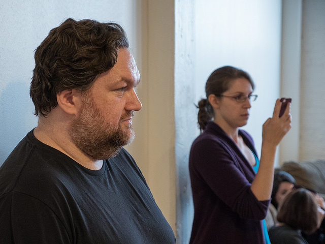 Christopher M. Walsh (director) and Morgan Gire (stage manager)